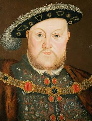 Portrait Of Henry Viii Poster by English School