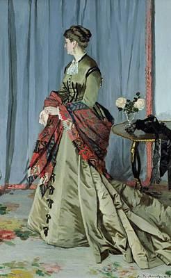 Portrait Of Madame Louis Joachim Gaudibert Poster by Claude Monet