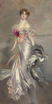 Portrait Of Marthe Regnier Poster by Giovanni Boldini