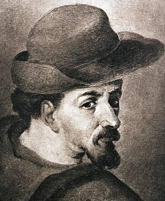 Portrait Of Miguel Saavedra De Poster by Vintage Design Pics