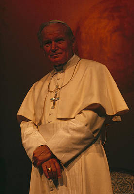 Portrait Of Pope John Paul II Poster by James L. Stanfield