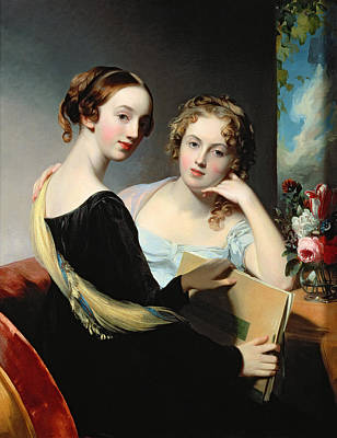 Portrait Of The Mceuen Sisters Poster by Thomas Sully