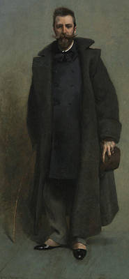 Portrait Of William Merritt Chase Poster by James Carroll Beckwith