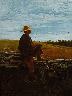 Portrays A Boy Watching Poster by Homer