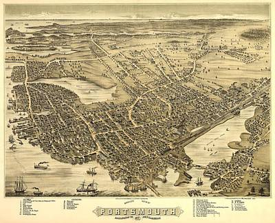 Portsmouth New Hampshire 1877 Poster by Mountain Dreams