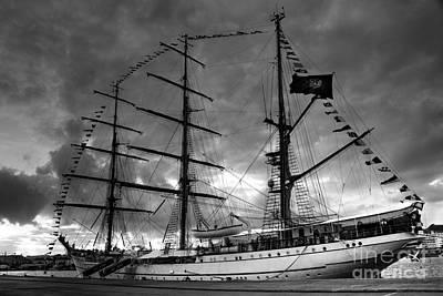 Portuguese Tall Ship Poster by Gaspar Avila