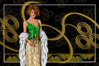 Posh Nouveau Poster by Troy Brown