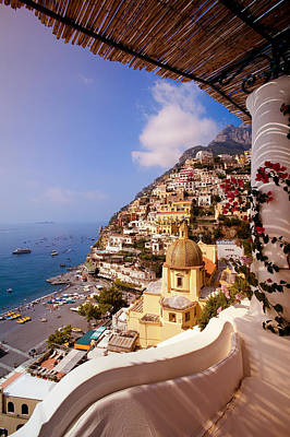 Positano View Poster by Neil Buchan-Grant
