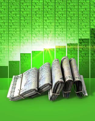 Positive Market Money Poster by Allan Swart
