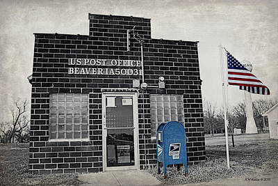 Post Office Beaver Iowa Poster by Kathy Krause
