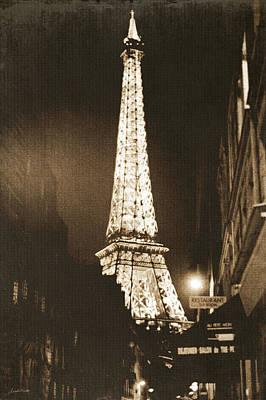 Postcard From Paris- Art By Linda Woods Poster by Linda Woods