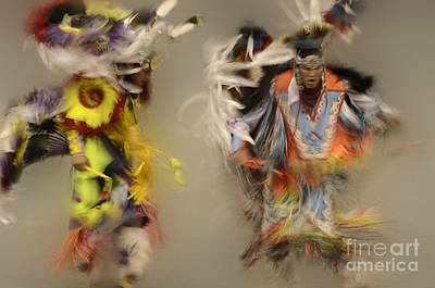 Pow Wow Beauty Of The Dance 1 Poster by Bob Christopher