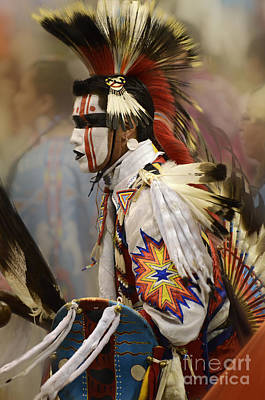 Pow Wow First Nation Dancer Poster by Bob Christopher