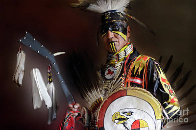 Pow Wow Portrait Of A Proud Man 2 Poster by Bob Christopher