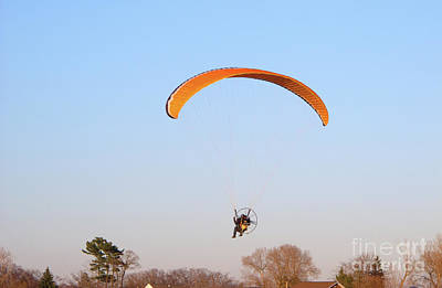 Powered Paraglider Poster by Ann Horn
