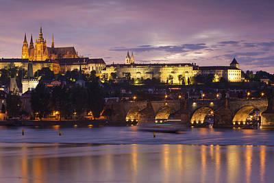 Prague Castle And Charles Bridge Poster by Andre Goncalves