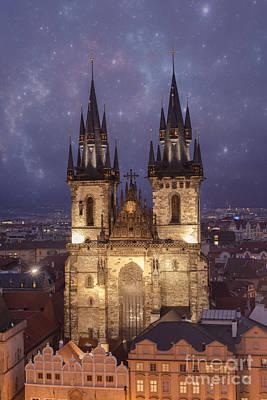 Prague.  Tyn Church Poster by Juli Scalzi