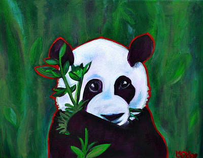 Precious Panda Poster by Monika Sylvestre