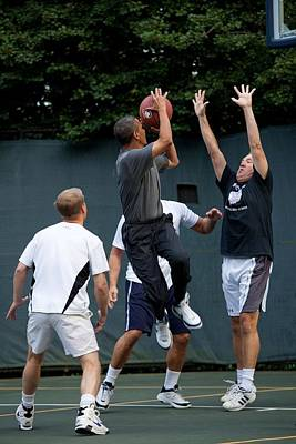 President Barack Obama Takes A Shot Poster by Everett