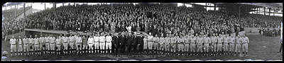 President Coolidge And The Washington A.l. And New York N.l. World's Series Baseball Teams Poster by Panoramic Images