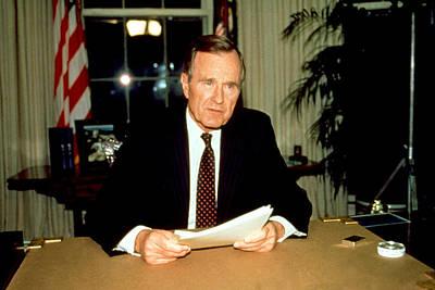 President George Bush Poster by Everett