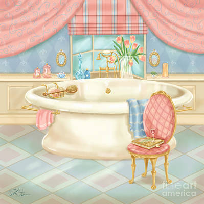 Pretty Bathrooms II Poster by Shari Warren
