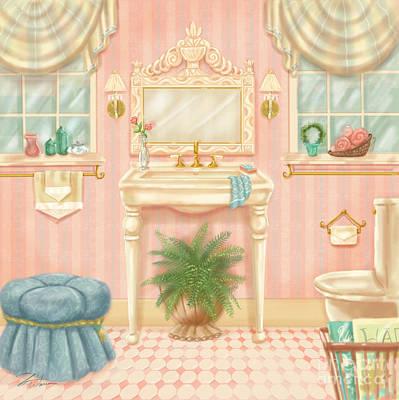 Pretty Bathrooms IIi Poster by Shari Warren