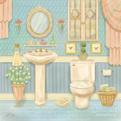 Pretty Bathrooms Iv Poster by Shari Warren