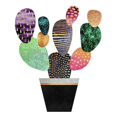 Pretty Cactus Poster by Elisabeth Fredriksson