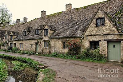 Pretty Cottages All In A Row Poster by Jasna Buncic