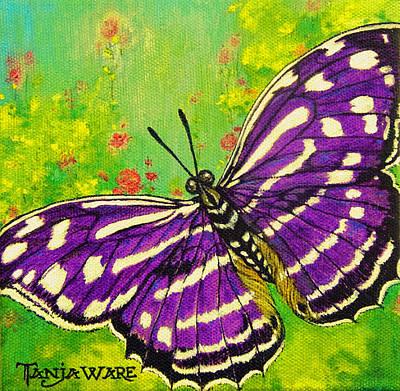 Pretty In Purple Poster by Tanja Ware