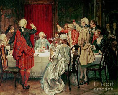 Prince Charles Edward Stuart In Edinburgh Poster by William Brassey Hole