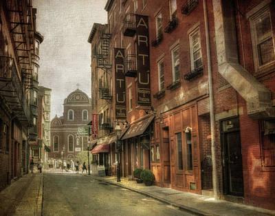 Prince St. - North End Boston Poster by Joann Vitali