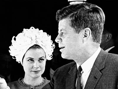 Princess Grace Of Monaco And President Poster by Everett