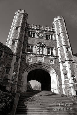 Princeton University Buyers Hall Tower Stairs Poster by Olivier Le Queinec