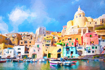 Procida Italy Poster by Impressionist Art