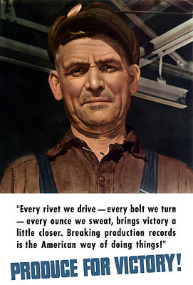 Produce For Victory Poster by War Is Hell Store