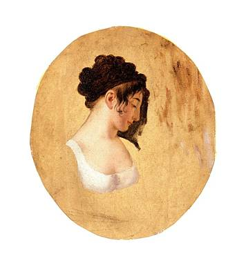 Profile Of A Young Womans Head Poster by Leopold Boilly