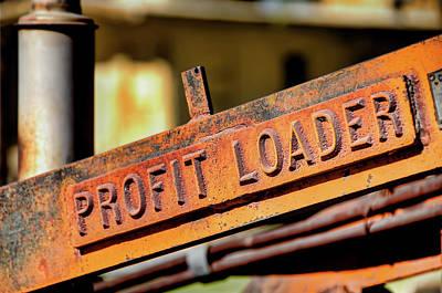 Profit Loader Poster by David Lawson
