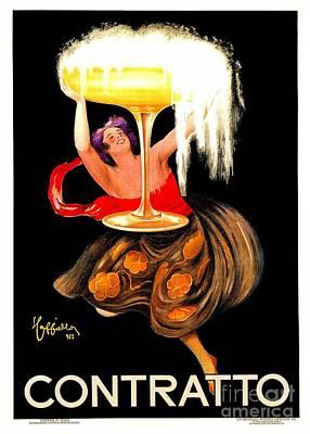 Prosecco Contratto Leonetto Cappiello Poster by Heidi De Leeuw