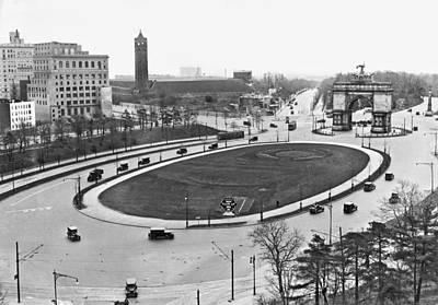 Prospect Park Plaza Poster by Underwood Archives