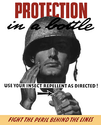 Protection In A Bottle Fight The Peril Behind The Lines Poster by War Is Hell Store