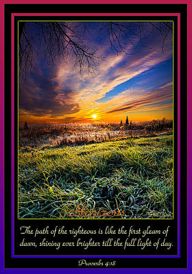 Proverbs Poster by Phil Koch