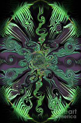 Psychedelic Abstract II Poster by Jim Fitzpatrick
