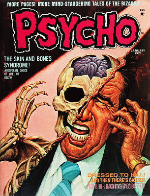 Psycho Magazine 1 Poster by Halloween Dreams