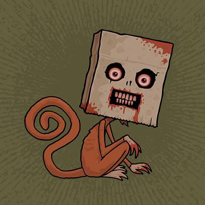 Psycho Sack Monkey Poster by John Schwegel