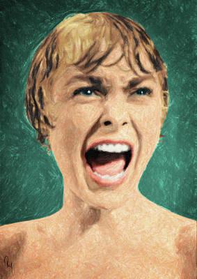 Psycho Shower Scene Poster by Taylan Apukovska