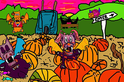 Pumpkin Patch Poster by Jera Sky