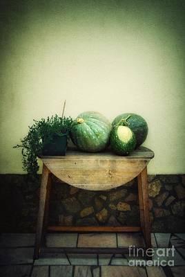 Pumpkin Table Poster by Carlos Caetano