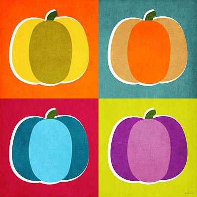 Pumpkins- Pop Art By Linda Woods Poster by Linda Woods